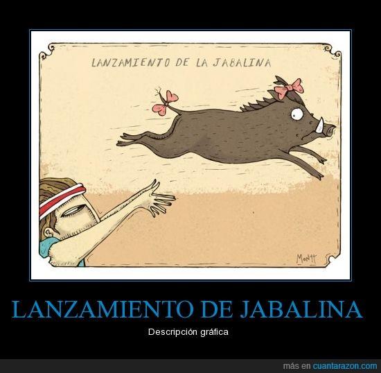 jabalina,lanzar