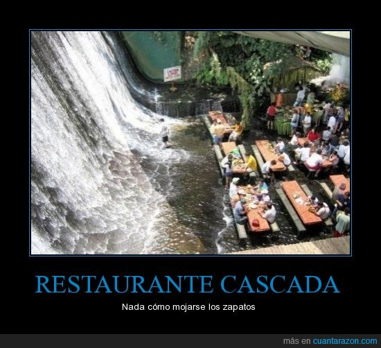 cascada,restaurante