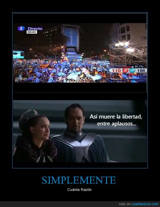 Padme,PP,PSOE,Rajoy,Stars Wars
