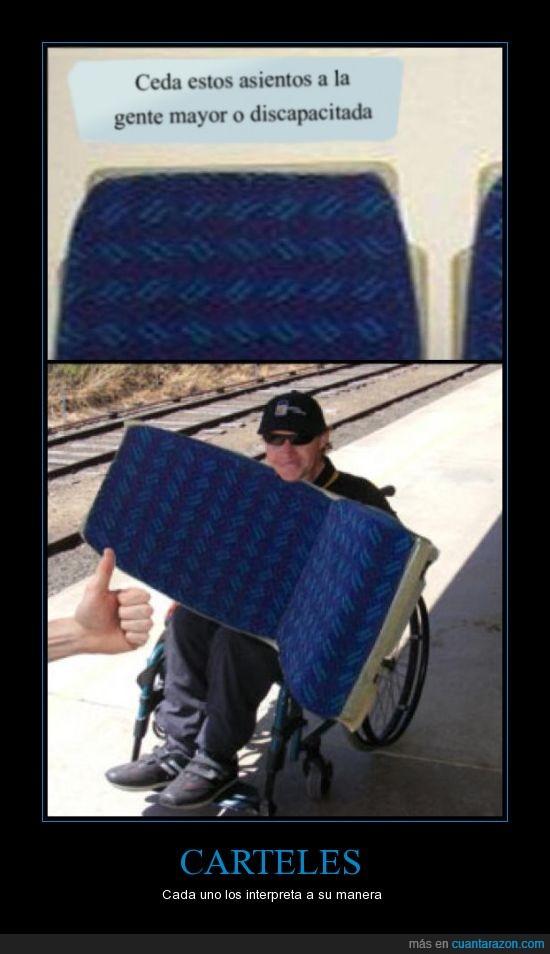 asiento,discapacitado,it's free,troll