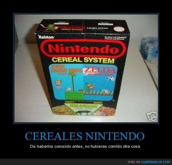cereales,mario bros,Nintendo,zelda