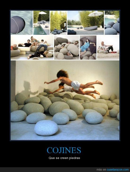cojines,diseño,piedras