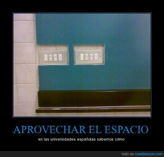 interruptor,pared,pizarra,universidad española