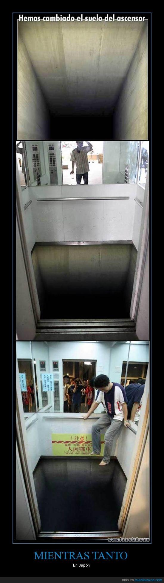 ascensor,japon,Mientras tanto,suelo