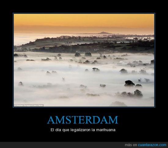 amsterdam,espesor,humo,marihuana,niebla,visión