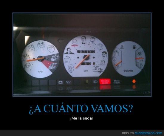 memes,okey,Recuerda: si conduces. no corras,sé que pone okay en la foto.me da igual,velocímetro,yao ming