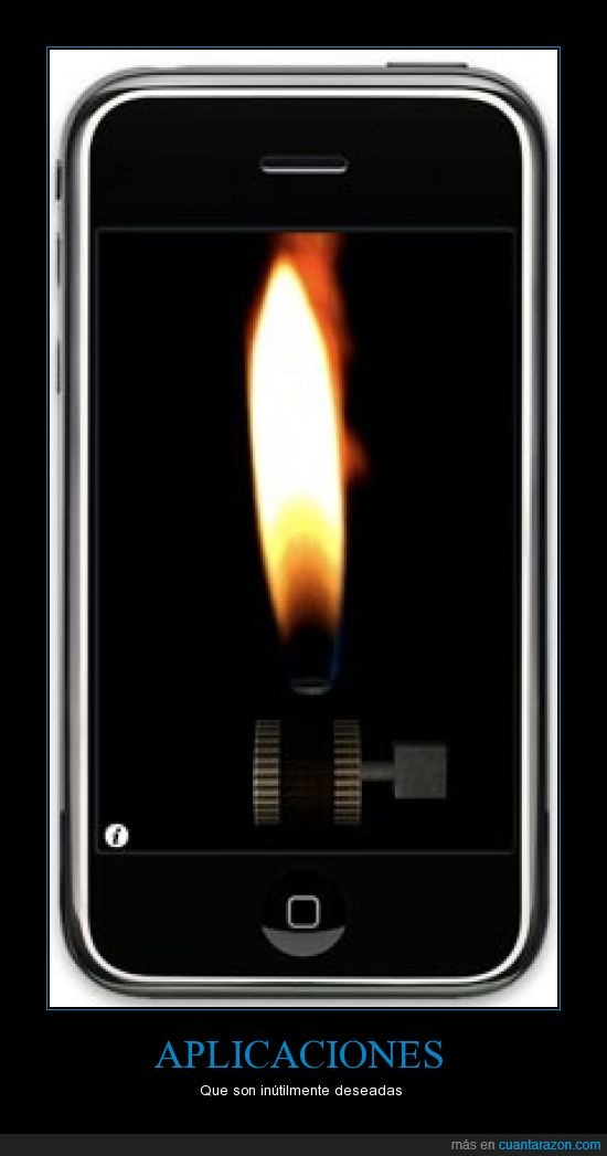 aplicaciones,encendedor,inutil,Iphone,ipod,touch