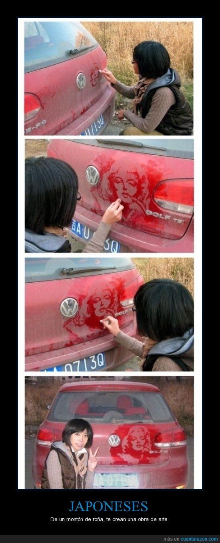 aburrimineto,auto,dibujo,japones