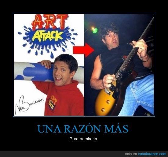 art attack,artista,guitarrista