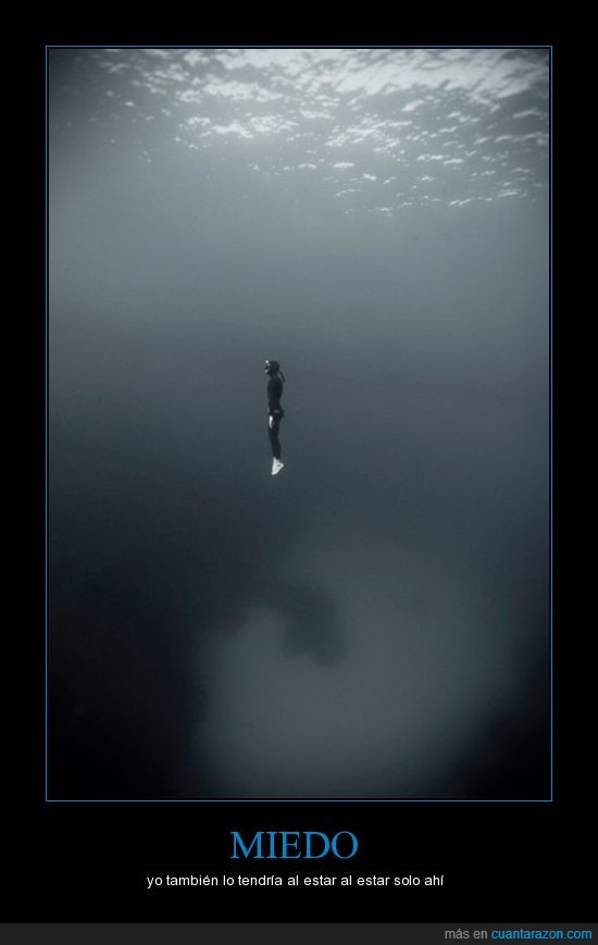 buceador,mar,soledad,vacío