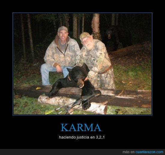 cazadores,justicia,karma,oso