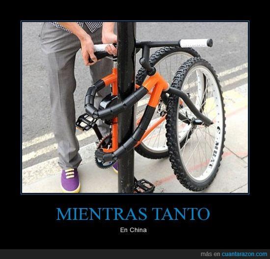 atar,bicicleta,cadena,palo