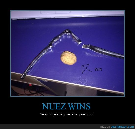 fail,nuez,romper,win