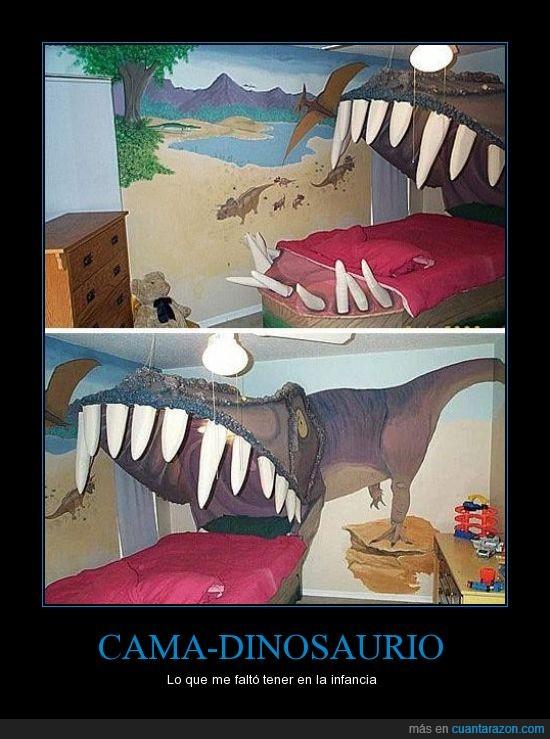 cama,dinosaurio,infancia