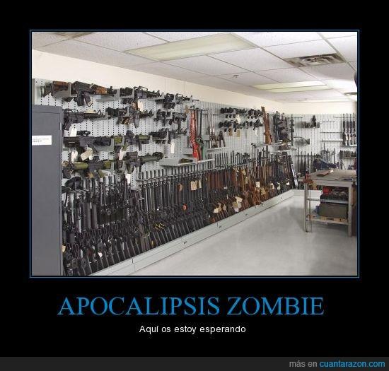 apocalipsis,armas,pared,pistolas,zombie