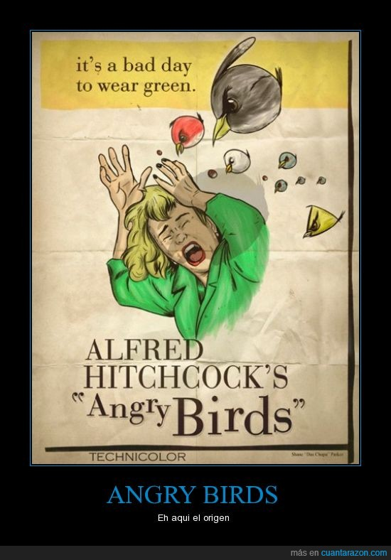 alfred hitchcock,angry birds