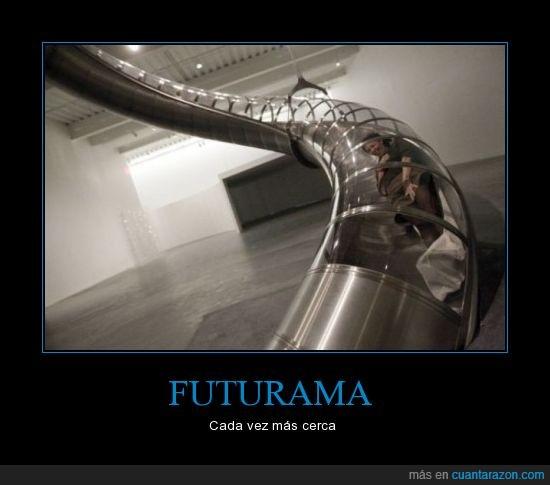 atracción,futurama,transporte,tubo