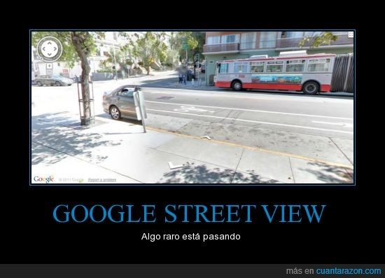 coche,desaparece,google street view,mitad