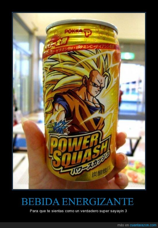 bebida,dragon ball,ernergy drink,lata,songoku,super saiyan