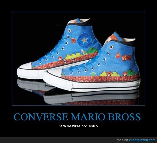 converse,frikis,mario bross,moda,zapatos