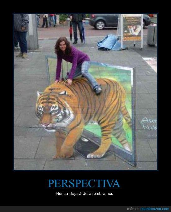 asombroso,perspectiva,street art,tigre