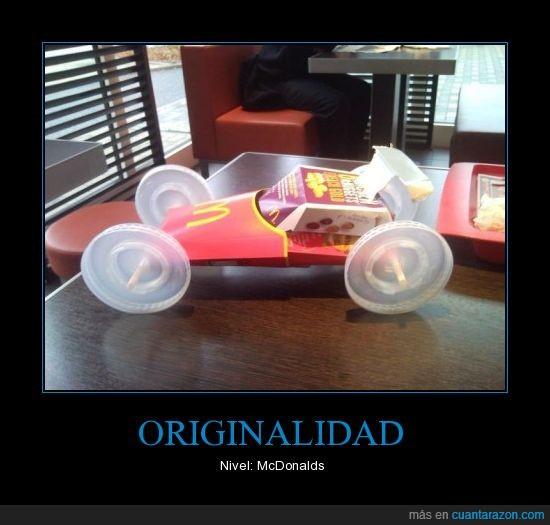auto,cajita,coche,comida,McDonalds