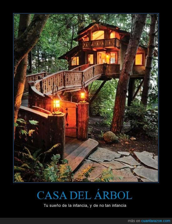 casa del árbol,cool,genialidad,niños