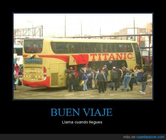 autobus,llamar,titanic,viaje