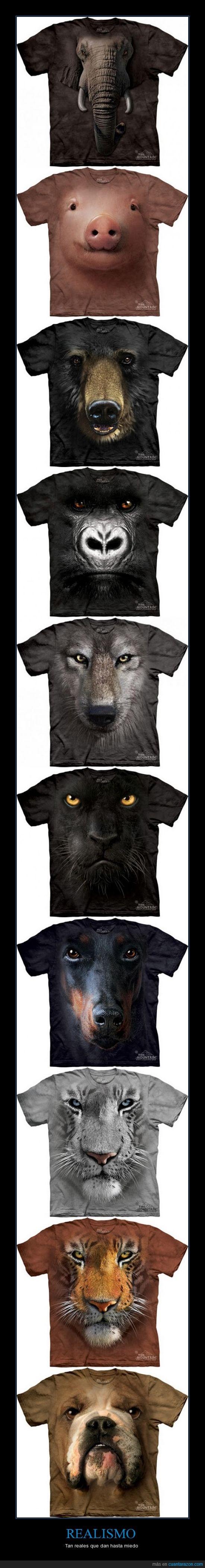 animales,camisetas,realismo