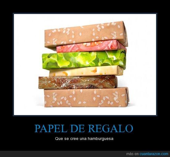 hamburguesa,papel de reglao,se cree
