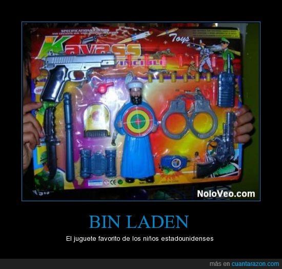 Bin Laden,juguetes,niños estadounidenses,obama,troll