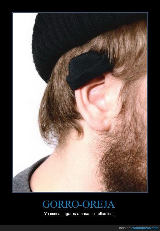 gorro,oreja,pelo,tapar