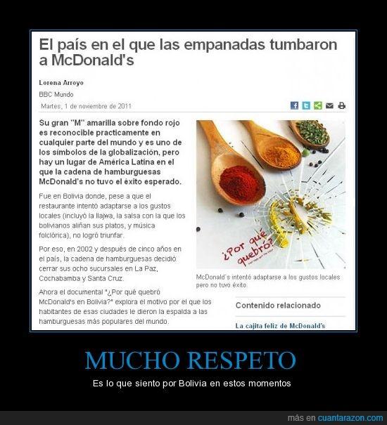 bolivia,fracasar,mc'donalds,noticias