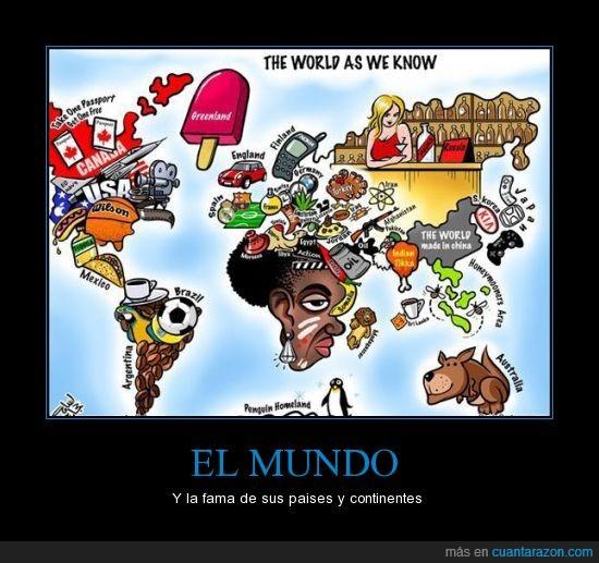 continentes,fama,mundo,paises