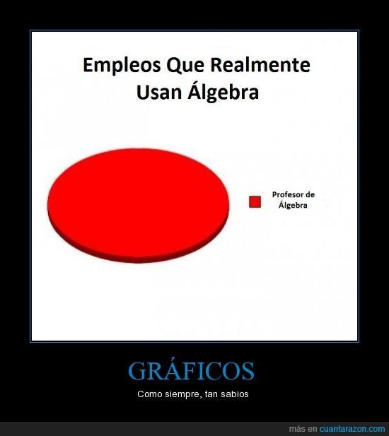 álgebra,empleo,profesor,uso
