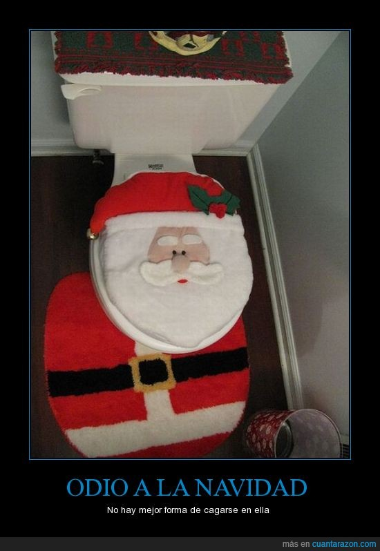 baño,Navidad,papa noel,tapa,WC