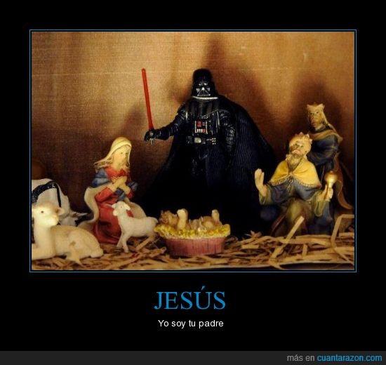 belén,darth vader,Jesus,navidad