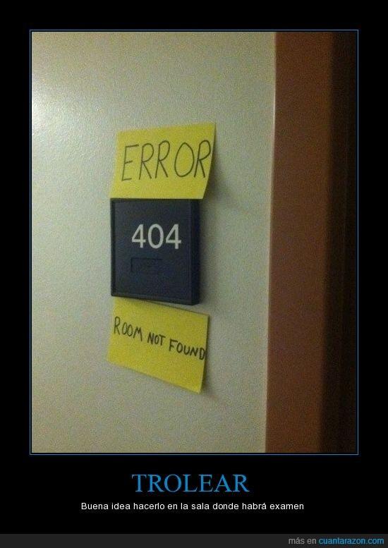 404 not found,error,habitación,room,Troll