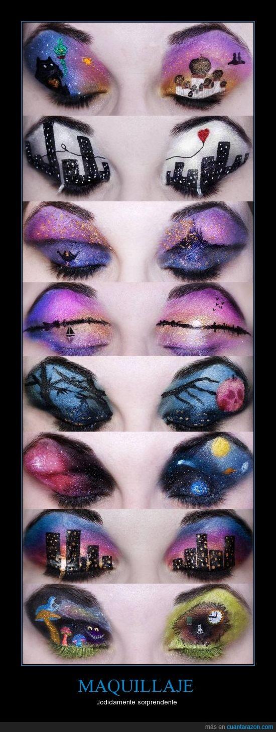 arte,color,maquillaje,paisajes