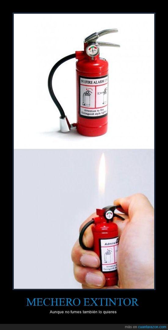 extintor,fumar,mechero