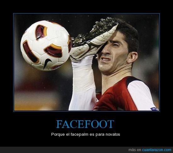 balon,facefoot,facepalm,futbol,pie