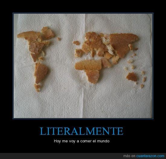 Comer,Humor,Mantequilla,Mapa,Mermelada,Mundo,Pan