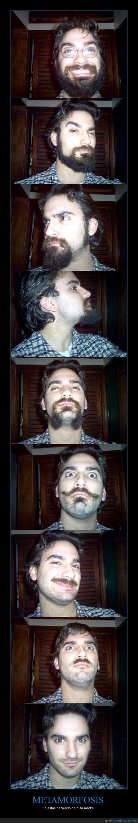 barba,cambio de look