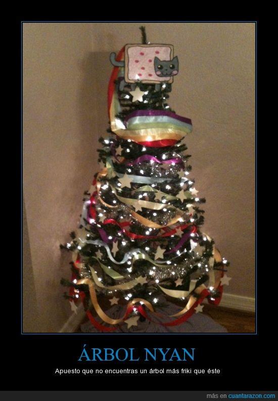 árbol,navidad,nyan cat