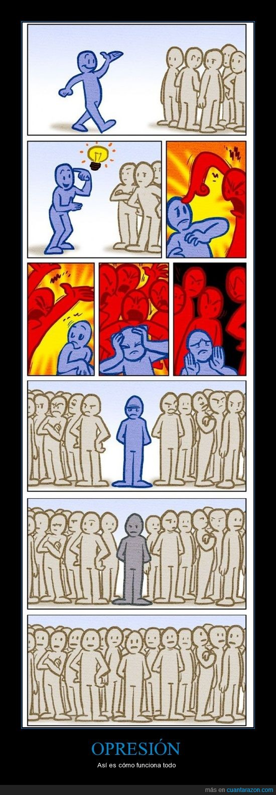 controlar,gente,idea,iguales,multitud