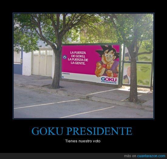 elecciones,fuerza,gente,goku,política,presidente