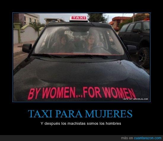 estupidez,hombres,machismo,mujeres,taxi