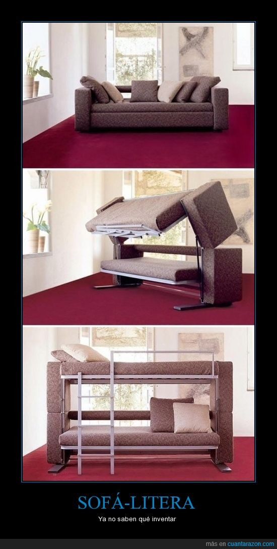 inventos,litera,sofá