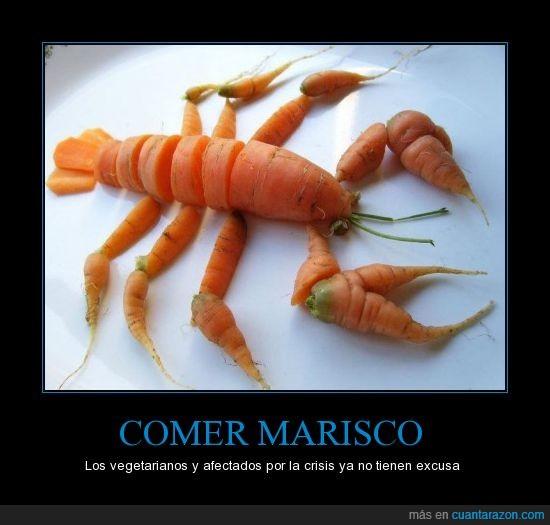 comer,dinero,marisco,zanahoria