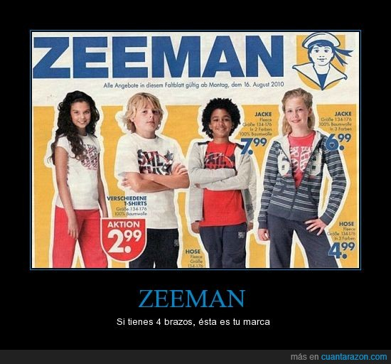 4 brazos,anuncios,fail,niños,photoshop,ropa,zeeman